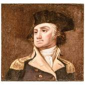 c 1850 General George Washington Oil Painting