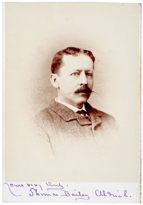 3: Thomas Bailey Aldrich Signed Cabinet Card