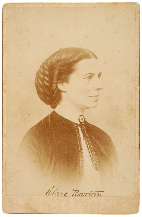 8: Clara Barton Cabinet Card Signed Twice