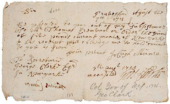 19: GEORGE CLARKE Document Signed, 1713