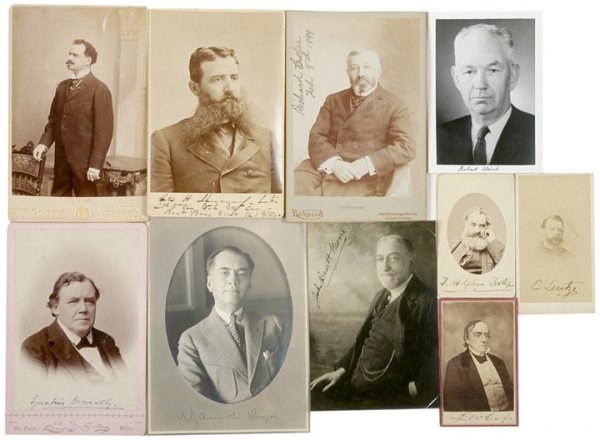 22: Collection of Signed CDVs and Cabinet Cards