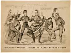 533 Civil War Lithograph Jefferson Davis Cameron