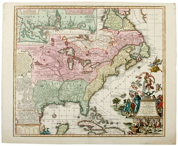 662: 1740 Matthias Seutter Colonial United States Map