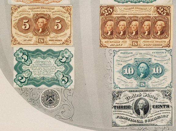 854: Fractional Currency Shield, 39 Specimen Notes - 4