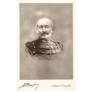 ALFRED DREYFUS Signed Real Photo French Postcard