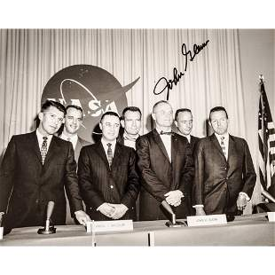 JOHN GLENN Autographed First Astronauts Photo