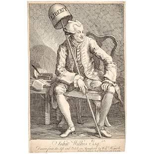 1763 John Wilkes, William Hogarth Satirical Print