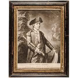 Rare Historic 1779 JOHN PAUL JONES Engraved Print