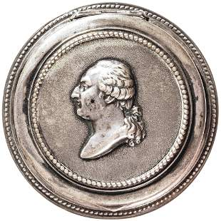 Pre-1793 King Louis XVI Portrait Silver Snuff Box