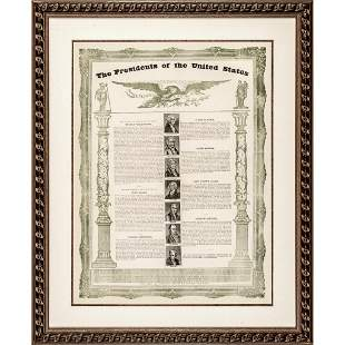 c 1834 Print, The Presidents of the United States