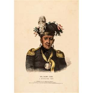 1838 Wa-Baun-See A Chief with Silver Peace Medal