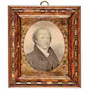 c. 1837 MARTIN VAN BUREN Period Framed Engraving