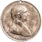 1837 Silver Martin Van Buren Indian Medal PCGS EF