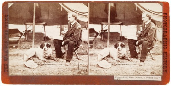 17: GEORGE A. CUSTER as Brigadier General Stereoview