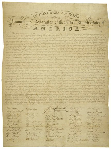 18: DECLARATION OF INDEPENDENCE 1825, E. Huntington