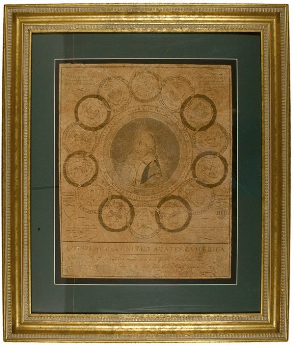 20: AMOS DOOLITTLE, Engraved printing plate, c. 1788-89