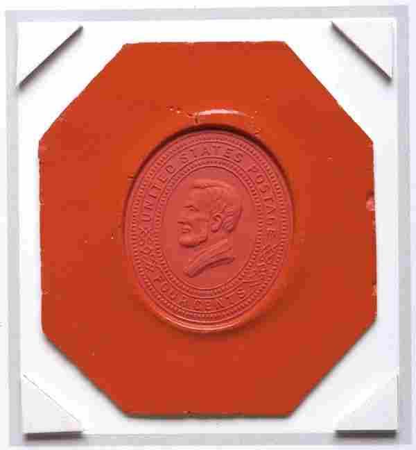 252: Unique Abraham Lincoln Wax Proof Impression