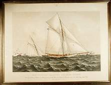 290 1886 Americas Cup Race Print by Currier  Ives