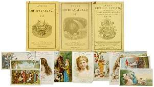 620: Collection of AYERS Almanacs and Advertising Cards