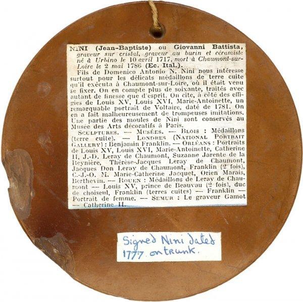 834: 1777 Benjamin Franklin Medallion In Terra Cotta - 2
