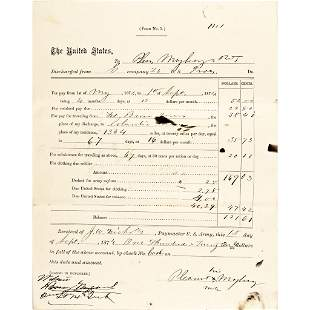 1874 Two Buffalo Soldier Discharge Documents
