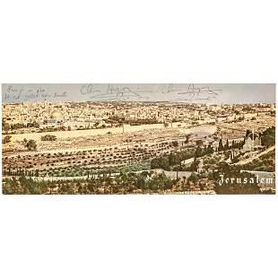 CHAIM HERZOG 6th President of Israel Signed Photo