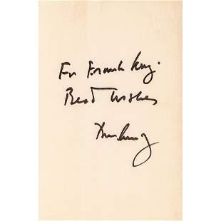 JOHN F KENNEDY Autographed Copy WHY ENGLAND SLEPT