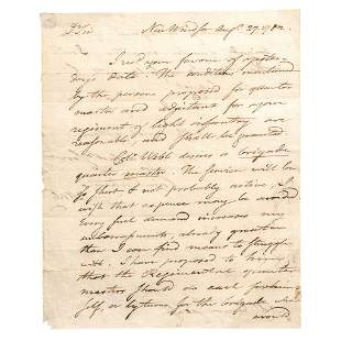 1782 TIMOTHY PICKERING Rev. War Autograph Letter