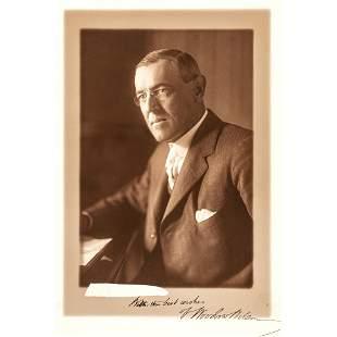 President WOODROW WILSON Signed Studio Photograph