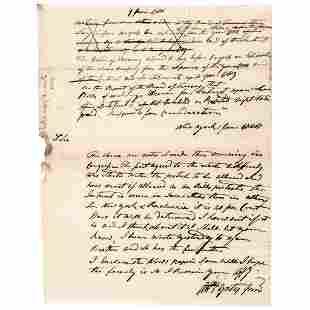 1780 ABRAHAM YATES JR Rev War NY Treasury Letter