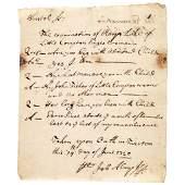 1720 Examination regarding a Bastard Child Born