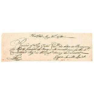 Revolutionary War Date Manuscript Document Signed