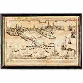 (1868) Print of British Troops Landing in Boston!