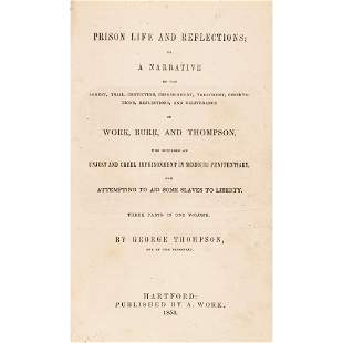 1853 Anti-Slavery Book, Prison for Aiding Slaves