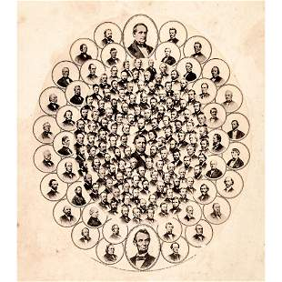 1865 EMANCIPATION LEADERS - Photographic Collage