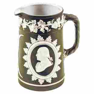 c 1800 Wedgwood: George Washington + Ben Franklin
