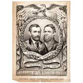 1868 Grant + Colfax Presidential Campaign Banner