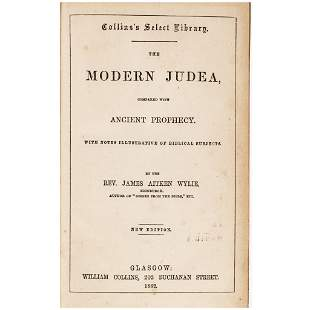 1862 MODERN JUDEA COMPARED WITH ANCIENT PROPHECY