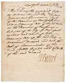 2004: WILLIAM BURNET Signed Document 1724