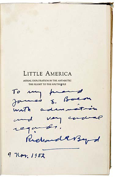 2005: RICHARD E. BYRD, First Edition Book Signed