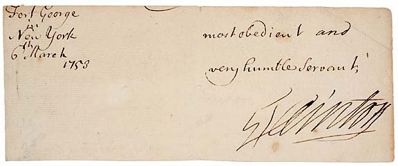 2009: GEORGE CLINTON Signed Document, 1753