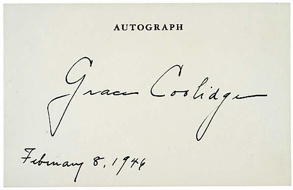 2010: GRACE COOLIDGE, 1946, Courtesy Autograph