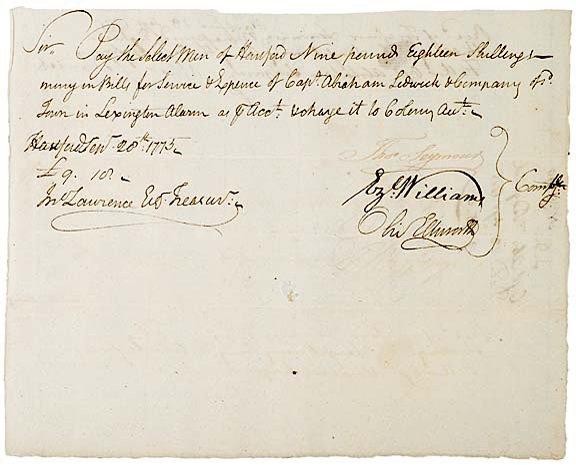 2014: OLIVER ELLSWORTH, Signed Document, 1775