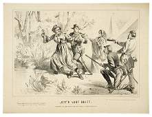 2184 Civil War 1865 Lithograph JEFFS LAST SHIFT