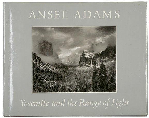 2: ANSEL ADAMS Signed Book Yosemite...Range of Light
