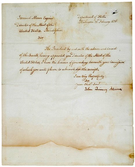 3: JOHN QUINCY ADAMS Autograph Letter Signed