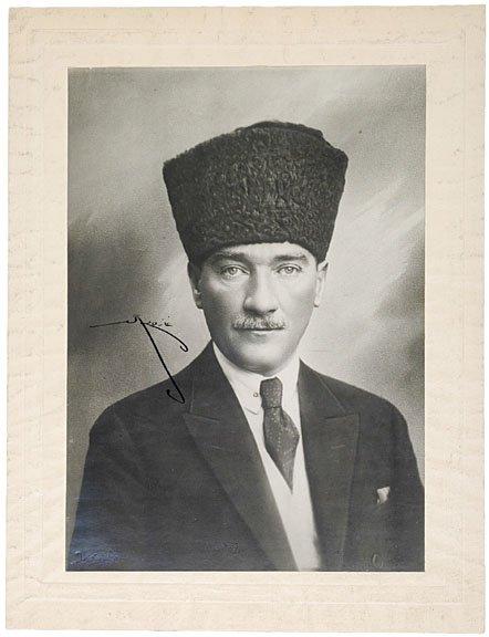 16: MUSTAFA KEMAL ATATURK Signed Photograph