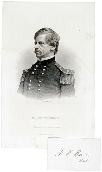17: Gen. NATHANIEL PRENTISS BANKS, Signature on Card