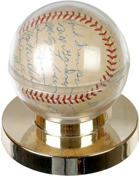 19: Signed Baseball Entire 1954 New York Giants Team