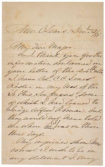 20: PIERRE G.T. BEAUREGARD, Autograph Letter Signed